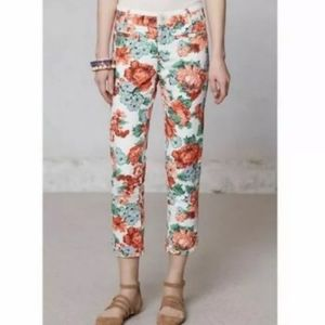 Anthropologie Cartonnier Floral Cropped Pants 4